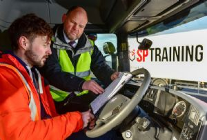 image: UK hazardous goods bespoke HGV driver training Flogas rigid truck fleet