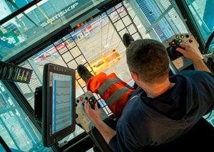 image: Port of Tilbury container freight bulk cargo Samskip terminal panamax ship to shore cranes