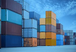 image: US the New York Shipping Exchange (NYSHEX) container freight bulk cargo box trade