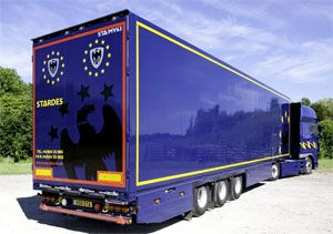 image: UK freight trailers rock band Kasabian Mika logistics