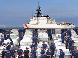 image: US Coast Guard organised crime Stratton cutter vessel cocaine heroin