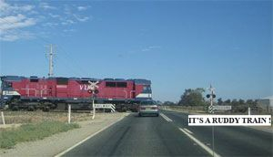 image: Australia US truck fuel freight rail level crossing accident blackspot