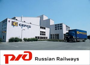 image: RzD rail cargo Gefco freight forwarding multimodal logistics