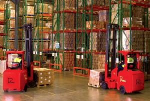 image: shipping logistics freight cargo forklift