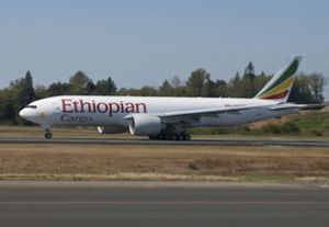 image: Africa cargo carrier freight aircraft Ethiopia Boeing