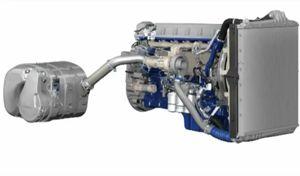image: Volvo road haulage truck Nitrogen oxide emissions particulate EU regulations