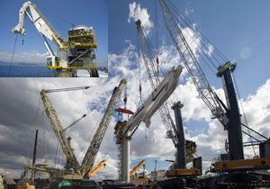 image: Germany Asia subsea crane oil rig container ship Liebherr RL-K 7500 Daewoo Shipbuilding & Marine Engineering