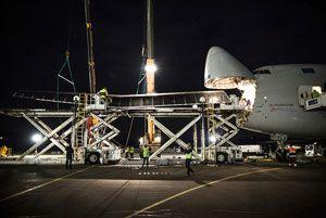 image: Schenker Cargolux freight Solar Impulse cargo prototype logistics