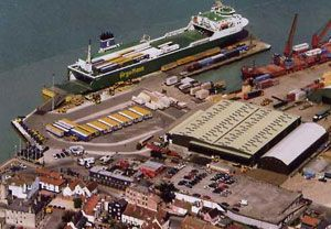 image: UK container shipping freight handling Harwich Port severe injuries cargo
