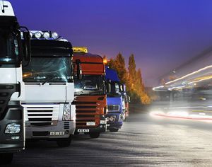 image: Department for Transport freight forwarding logistics UK lorries