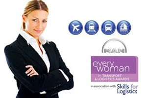 image: UK transport truck driver freight logistics everywoman haulage