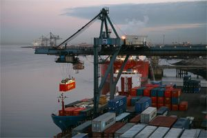 image: UK Belgium container freight box carrier feeder cargo bulk tank