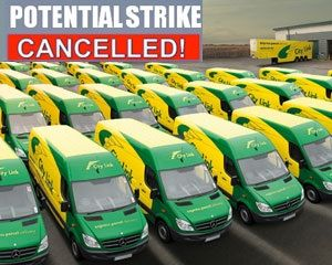 image: UK express freight driver parcel strike RMT Union City Link