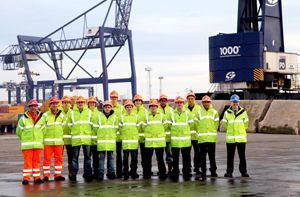 image: UK port freight logistics dock apprenticeship