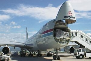 image: Cargolux US Department of Justice anti trust activities freight forwarder ocean container logistics air cargo jail