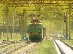 image: Russian rail freight tonne cargo levels electric train