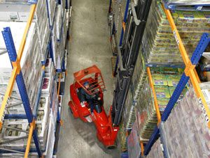 image: UK freight fork lift articulated truck lorries tonne supply chain Germany