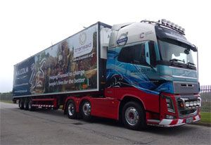 image: UK Africa rail freight logistics Transaid Malcolm Group charity semi-trailer