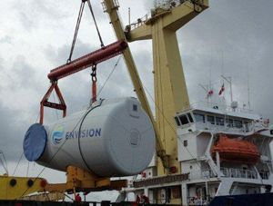 image: China Denmark heavy list project freight forwarder energy turbine port