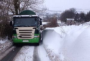 image: UK Freight transport Peter Lole Insurance colder weather road haulage accidents