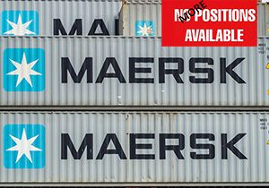 image: US German Denmark container shipping cargo carrier job swap Maersk freight logistics