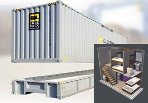 image: UK US CakeBoxx shipping container Q-Boxx ISO specifications door-less