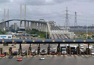 image: Dartford Thurrock crossing M25 Thames freight road haulage commercial fleets HGV