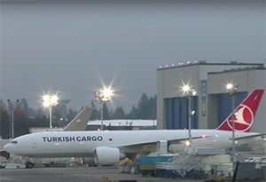 image: US South America Turkey freight forwarding agencies logistics Boeing 777 freighter air cargo TIACA airlines