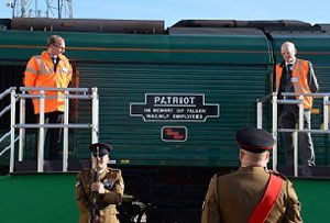 image: UK Memorial Freightliner Patriot rail freight