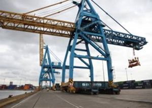image: UK port container terminal freight and cargo handling logistics