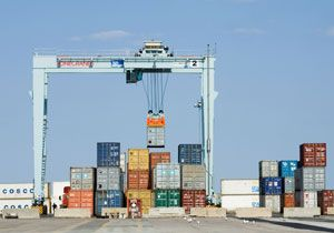 image: West Africa Finland France container freight cranes Konecranes Bollor� logistics transportation