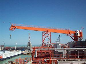 image: Sunderland Austria crane offshore logistics jobs materials handling Cygnus gas field