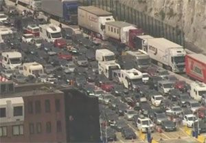 image: UK France freight drivers delays Port of Dover border control