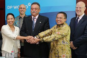 image: Indonesia DP World port infrastructure logistics
