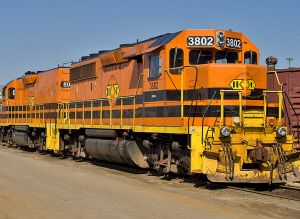 image: Rail freight, Huron Central Railway, Tony Clement, Canada, Ontario, Sudbury, Sault Ste. Marie