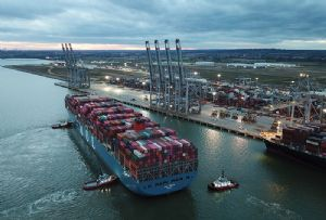image: UK, River Thames, deep water, container, port, DP World, Forth, Tilbury, Freeport, Thurrock, freight,