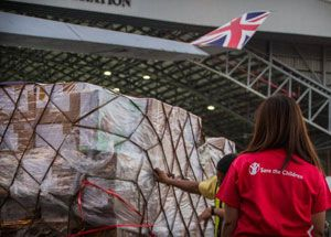 image: Typhoon Haiyan air freight carrier Virgin Atlantic Cargo Charity UNICEF Save the Children