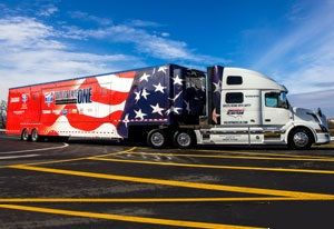 image: Volvo US truck ATA road haulage freight technology SuperTruck ll environment collision Nevada Las Vegas