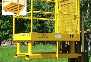 image: UK Charlton Powys fork lift truck design safety cage snacks crisps Contact attachments BT Reach