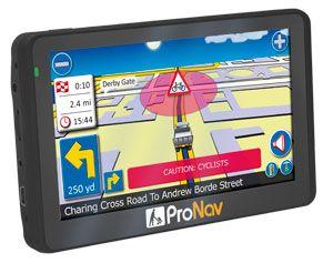 image: UK sat nav truck technology freight and road haulage interests ProNav GPS