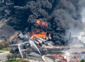 image: Canada freight train cargo Lac-M�gantic Quebec rail disaster