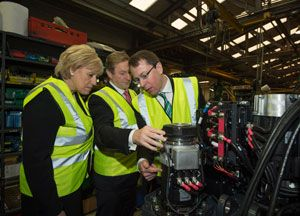 image: Combilift fork truck materials handling supply chain investment Irish Prime Minster Enda Kenny