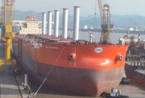 image: Brazil, Vale, mining, Flettner, rotor, sails, VLOC, Guaibamax, China, shipyard, Norsepower,