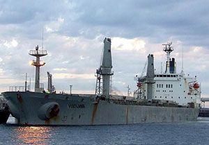image: Australia Alcoa ITF freighter merchant marine crew sacked flag of convenience MV Portland