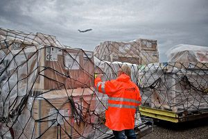 image: Schiphol air freight tonnage cargo China