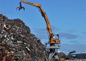 image: Vessel, loading, vessels, handler, dock, holds, tonne, dockside, Liverpool, Liebherr, Norton, Kirchdorf, cargo, scrap, bulk, ship, load
