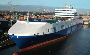image: Ireland RoRo ferry DFDS freight service