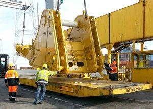 image: UK project freight forwarding Peru logistics Belgium ISO 9001 Tuscor Lloyds mafi trailer