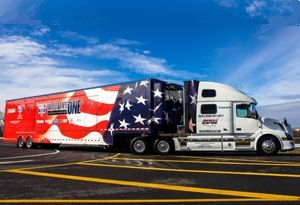 image: Volvo US road haulage truck trucking safety America team ATA
