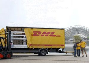 image: Germany DHL Deutsche Post logistics supply chain freight group trade fair